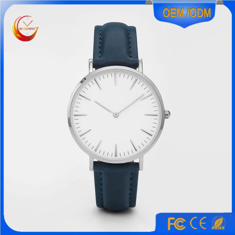 Promotion Sport Stainless Steel Fashion Lady Men's Quartz Wrist Watch