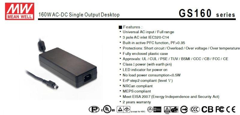 Mean Well 160W AC-DC Desktop Power Supply