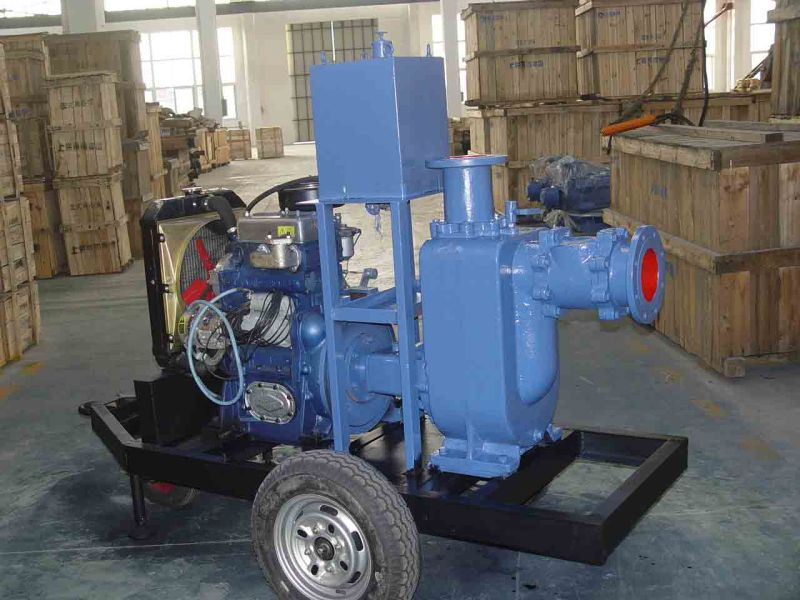 Emergency Movable Water Pumps with Trolley or Trailer