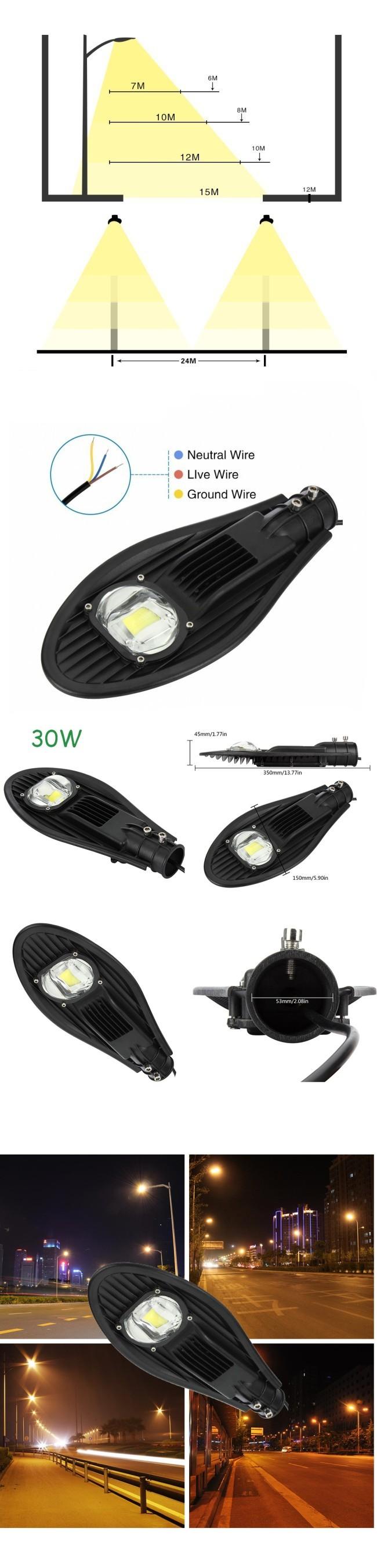 50W LED Street Light Highway COB LED Lamp Aluminum IP65