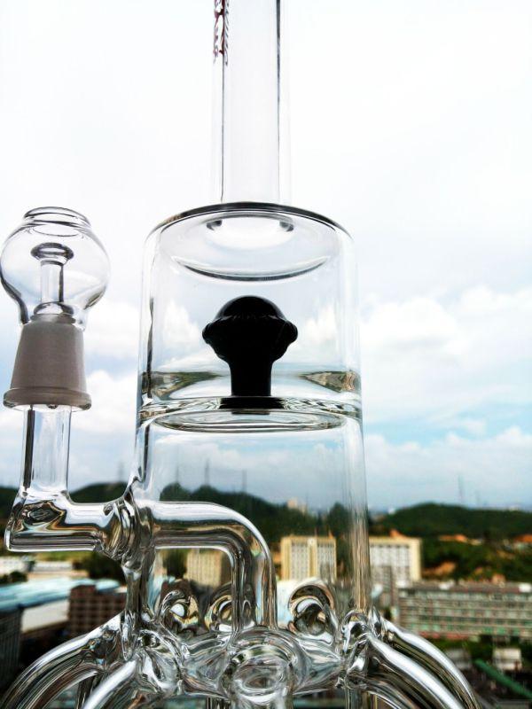 Bend Neck Smoking Pipe Hbking Recycler Glass Water Pipe Inliner Diffuser Smoking Water Pipe Free Shipping