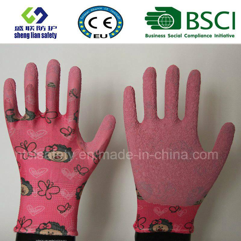 Latex Coated Labor Garden Safety Work Gloves