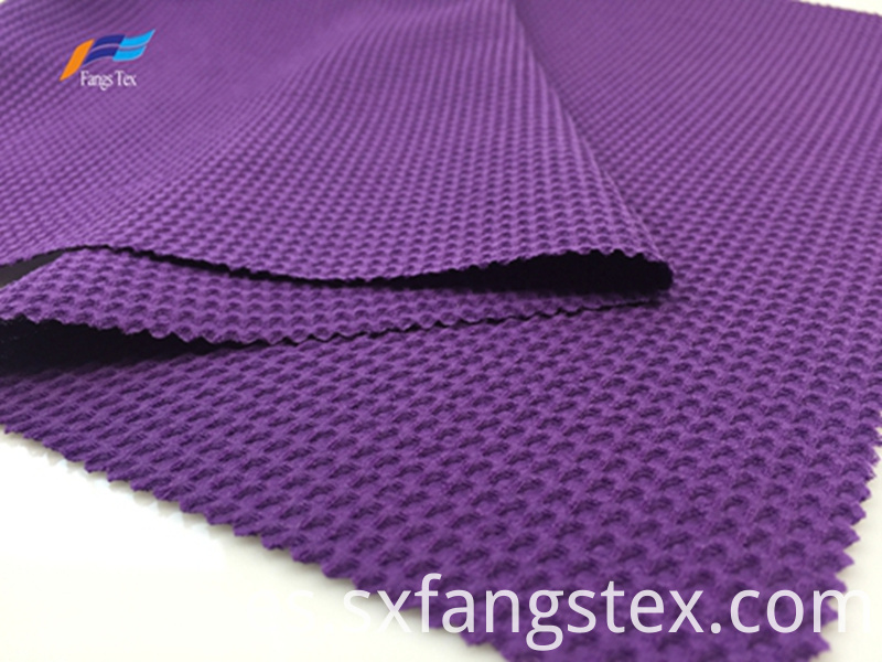100% Polyester 180D CEY Purple Bubble Jacquard Fabric 2