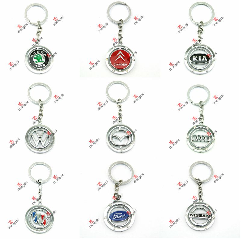 8mm Leather Slider Charms Keychain/Keyring DIY Jewelry/Promotional Gift (SK01-06)