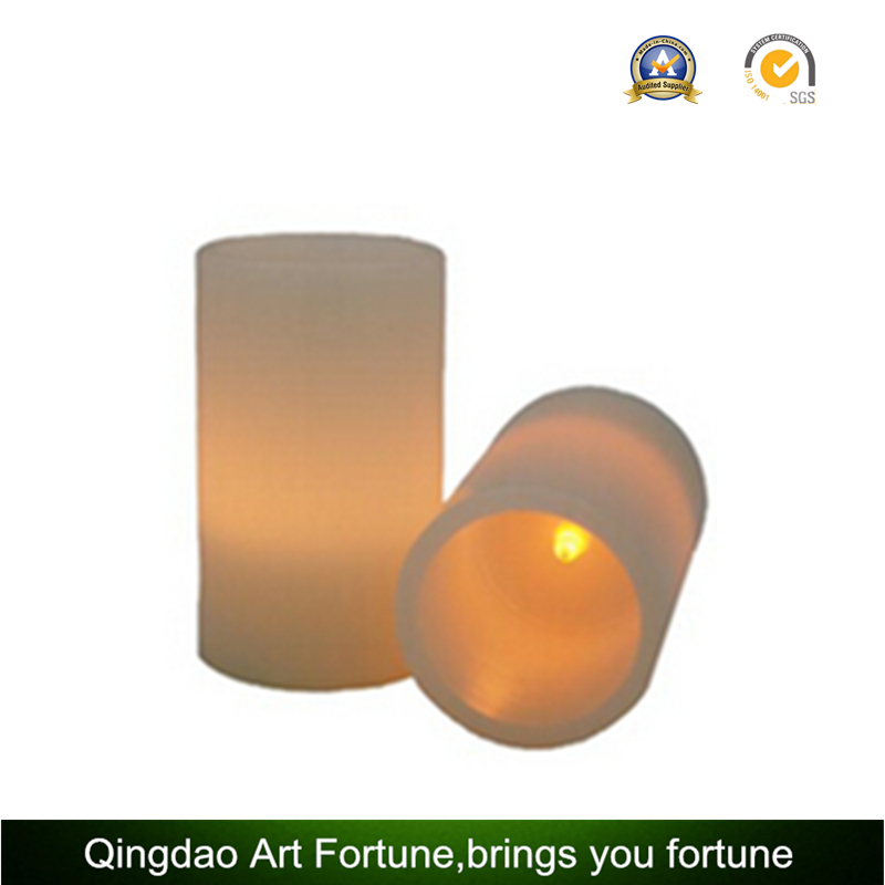 Flameless Real Wax LED Pillar Candle for Xmas Glitter