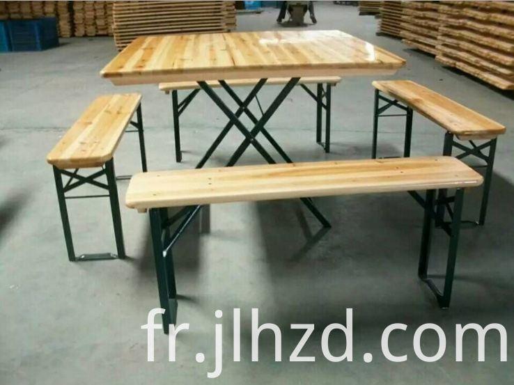 wooden beer table and bench set