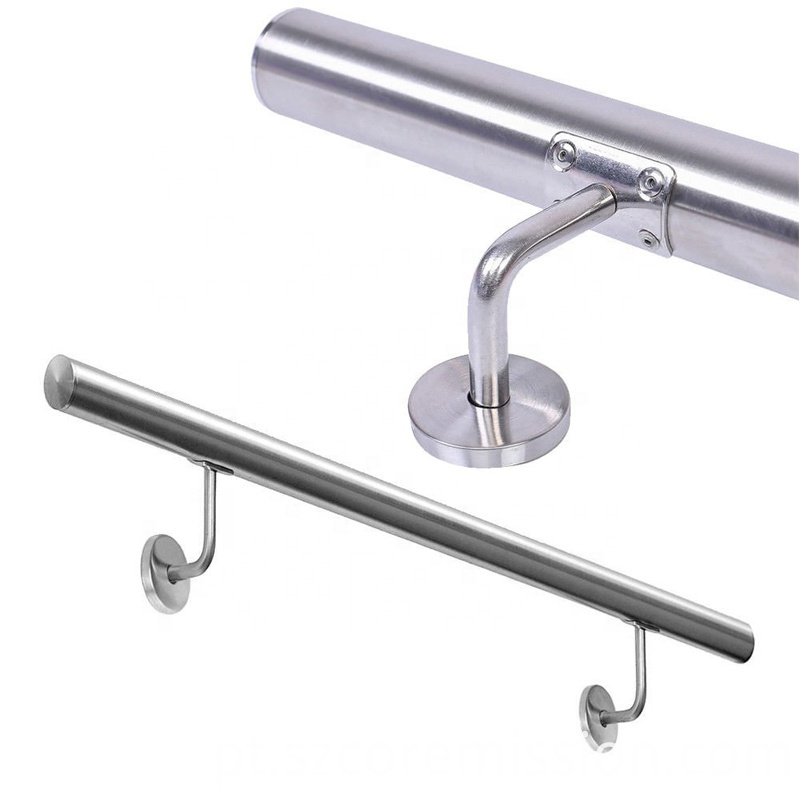 Indoor Removable Wall Mounted 304 Stainless Steel Handrail