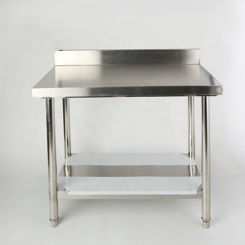 Height Adjustable Kitchen Stainless Steel Work Table