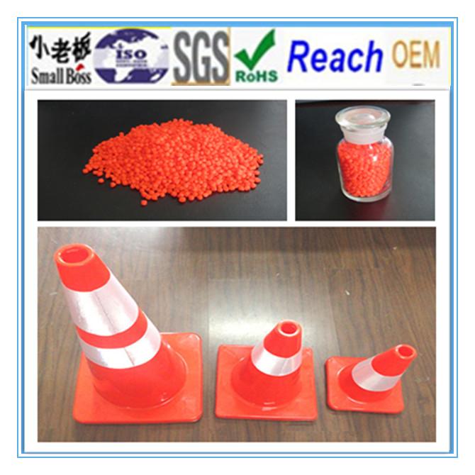 Orange Construction PVC Material Cones Granules