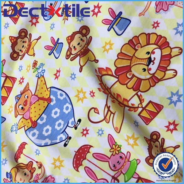 Cartoon Custom Design Digital Printed Spandex Cotton Fabric