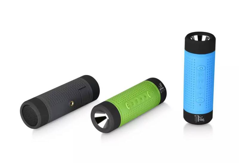 Waterproof Bluetooth Speaker with Power Bank /Flashlight/LED Light
