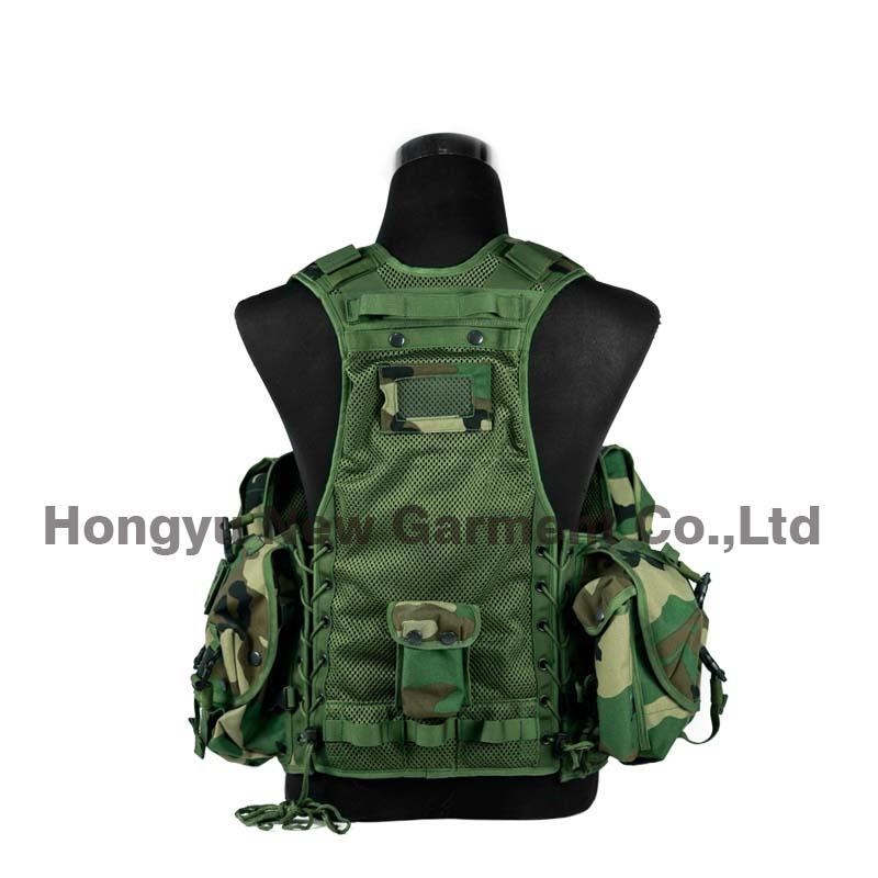 Molle Combat Vest Amphibious Tactical Safety Vest for Military (HY-V052)