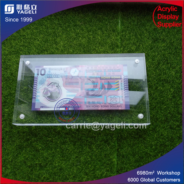 China 100 & USA 1 Acrylic Money Frame