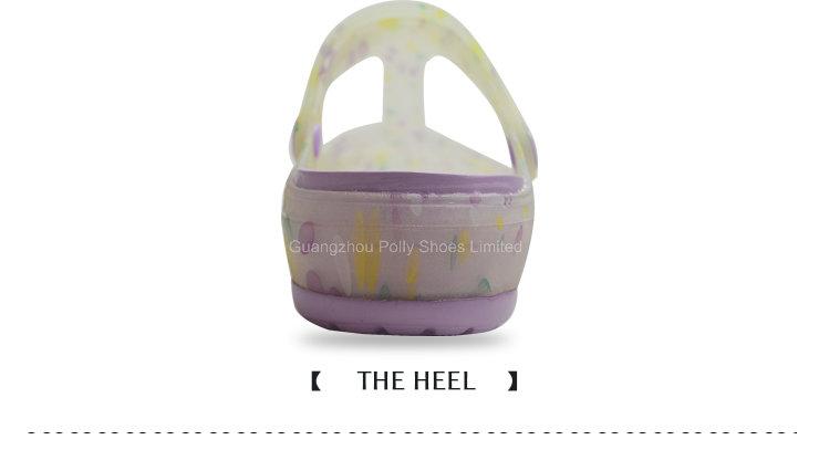 Wholesale Hollow Breathable Purple Latest Lady Sandal