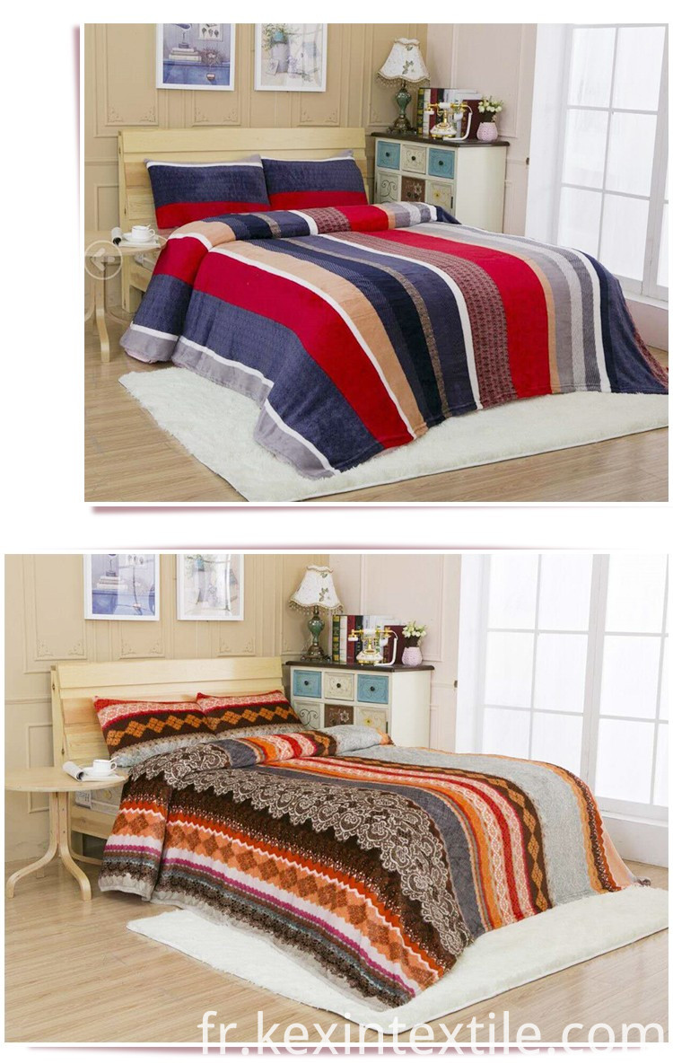 Super Soft Coral Fleece Bedding Set
