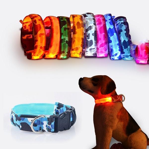 Pet LED Collar Night Safety Flashing Dog Collar