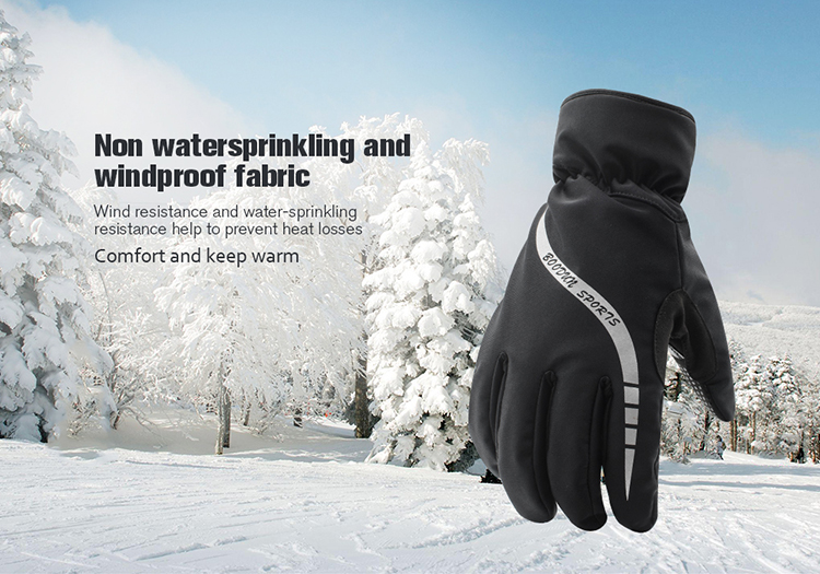 Wholesale Thinsulate Outdoor Padding Leather Ski Gloves