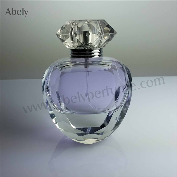 100ml Heart Shape High Quality Glass Perfume Bottle