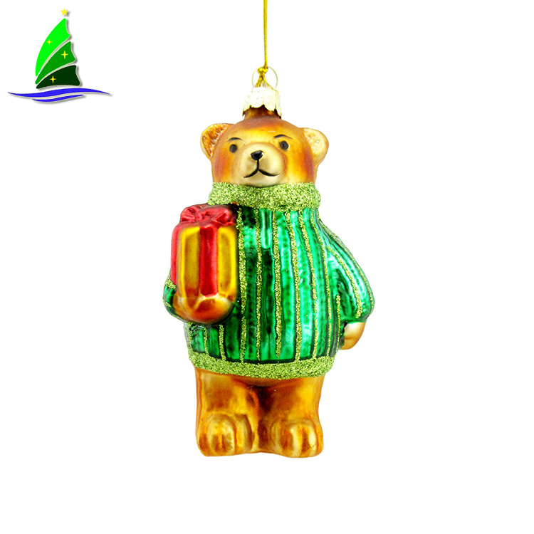 glass bear ornament