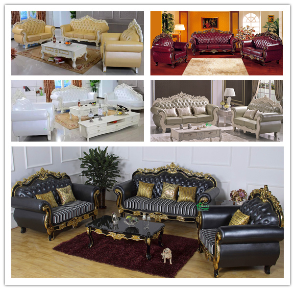 Leather Sofa Sets for Living Room Furniture (929P)