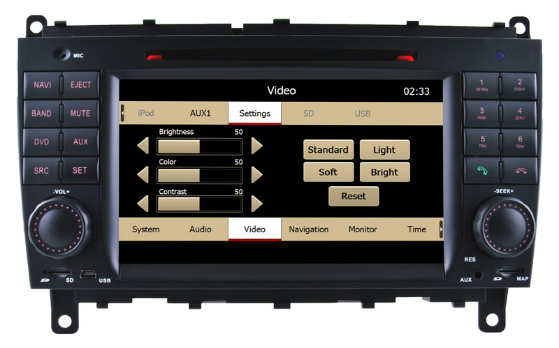 Auto DVD Player for Benz Clk W209 GPS Navigaitor