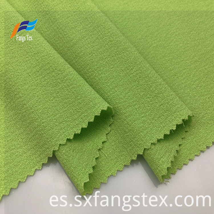 100% Polyester Fleece Crepe Dyed PD Clothing Fabric 5