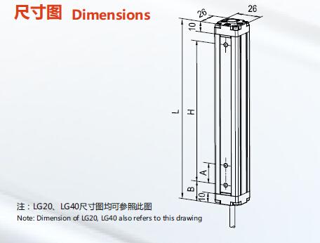 Lanbao 12 Axes Area Sensors (LG20-T1205T-F2)
