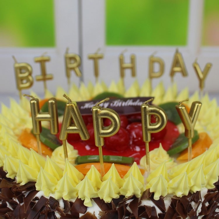 Birthday Cake Letter Candle