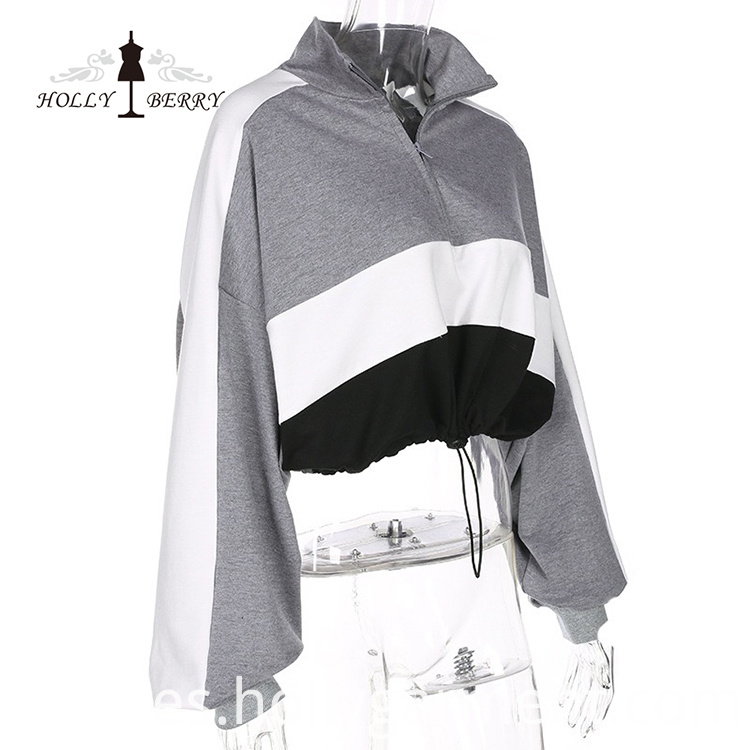 Hood Sweatshirt Zippered