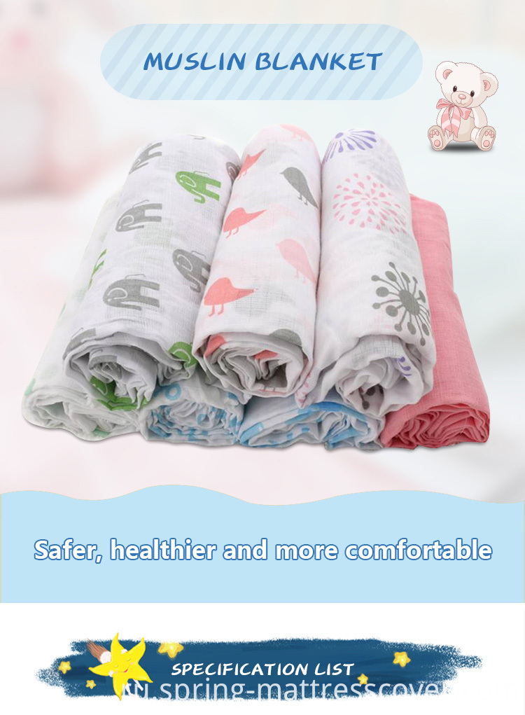 Muslin kids Swaddle Blanket