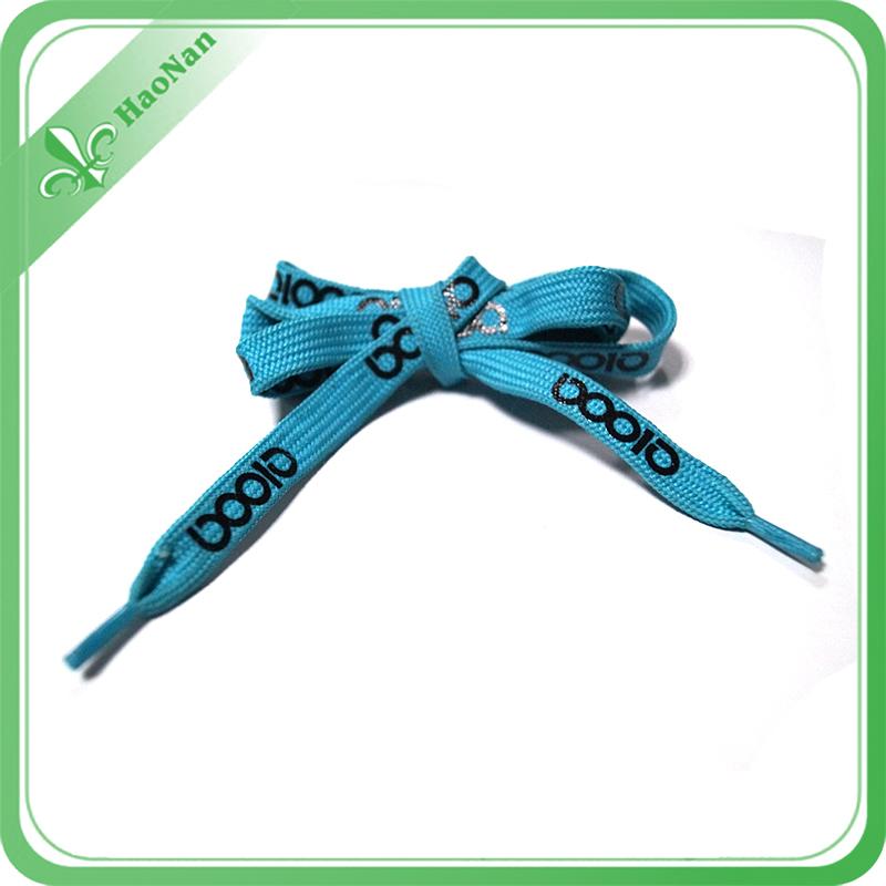 Direct Factory Manufacture Cheap Silk Screen 3D Logo Shoelace