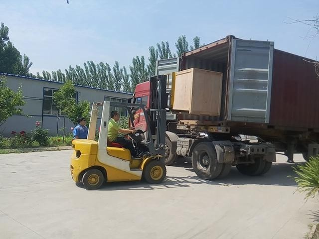 packing machine loading
