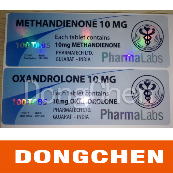 Trade Safely Fast Delivery Custom Printed Waterproof Shiny Hologram Vial Label