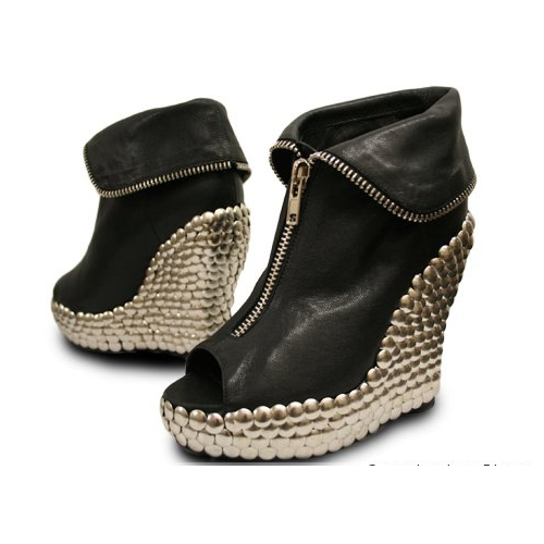 2016 New Style of Wedge Ankle Boots (Hcy02-456)