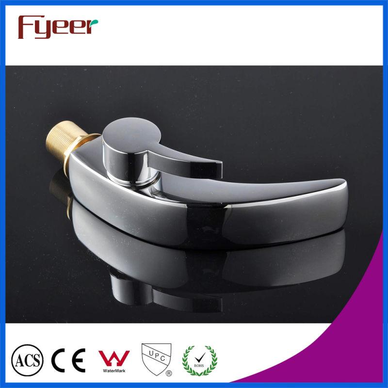 Fyeer Single Handle&Hole Chrome Bathroom Wash Basin Faucet Water Mixer Tap