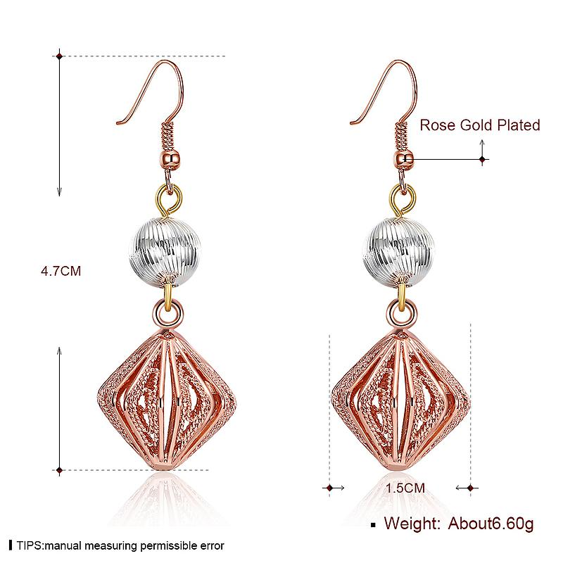 2017 New Design Embroidery Pendant Eardrop Earrings Rose Gold Plated