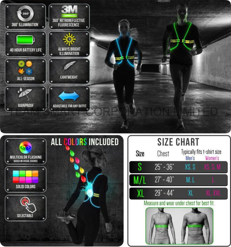 Night Reflective Vest LED Optics Vest for Running