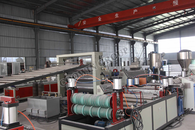 Wide Thick WPC PVC Foam Board Production Line Extruder Single Screw / Twin Screw