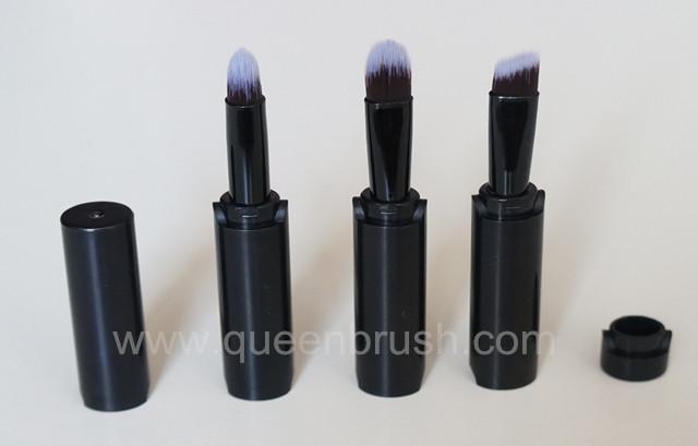3PCS Silicone Makeup Brushes Black Eyeshadow Brush Set