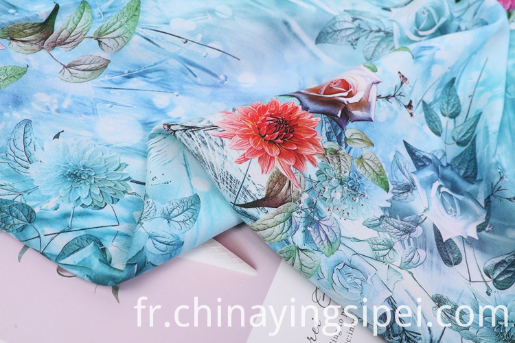 Rayon Printed Satin Rayon Challis Fabric For Garment