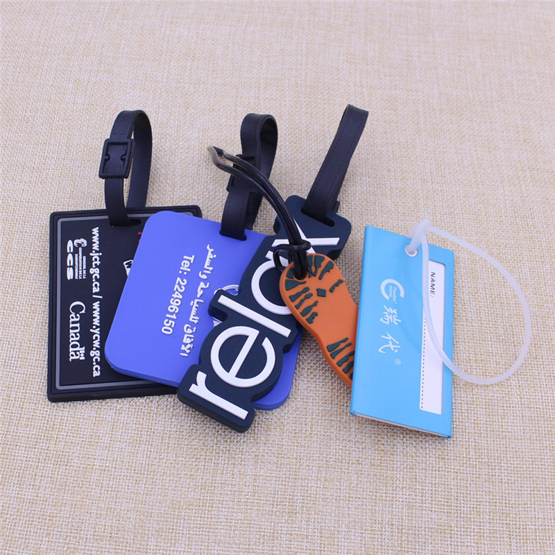 2016 Cheapest Personalised Logo Rubber Luggage Tag