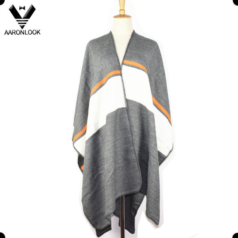 2016 Womens Fashion High Quality Striped Shawl Poncho