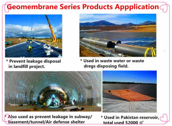 LLDPE LDPE PVC EVA HDPE Geomembrane for Hazardous Landfill Lining