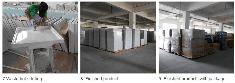 Sanitary Ware 1100*700 High Quality Stone Surface SMC Shower Base (ASMC1170S)