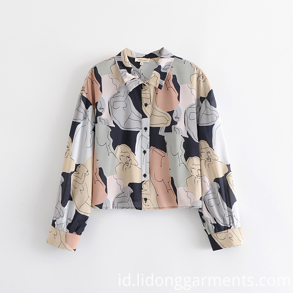 Printed Blouse Long Sleeves