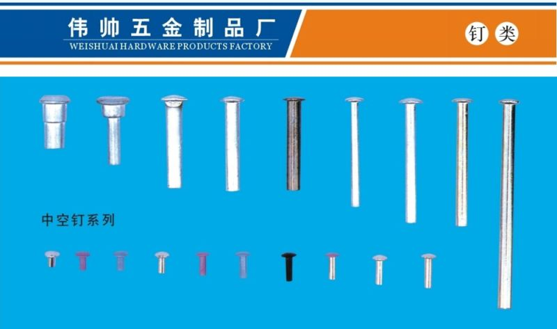 Accessories for Bags&Cases, Hollow Nails, Zinc Alloy Nail