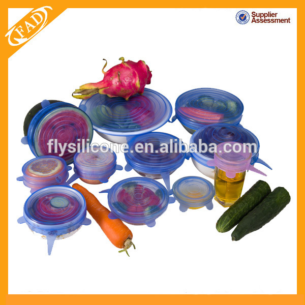 Bpa Free Silicone Stretch Fresh Cover for Fruit Bowl