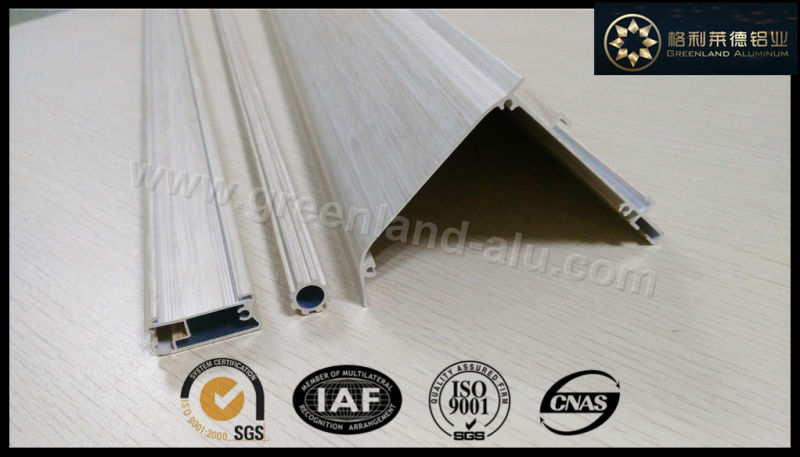 Aluminum Curtain Track Profiles with Brushed Silver Color