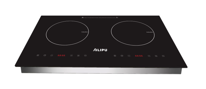 730*430mm Schott Glass and EGO Heating Element Two-Zone Built-in Induction Hob Model Sm-Dic13b