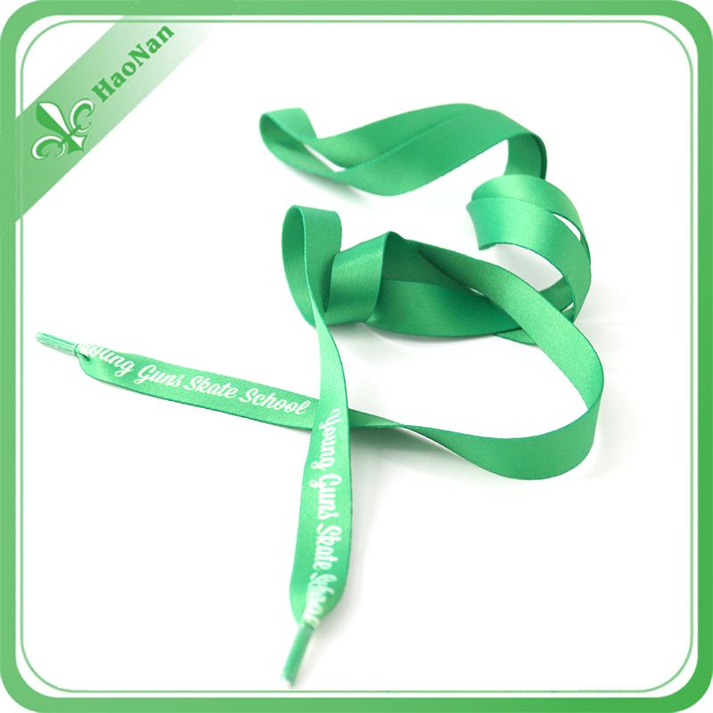 Colorful Good Quality Polyester Logo Printing Shoelace with Clip